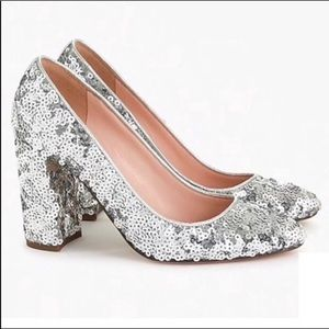 J Crew | Sequin Pumps